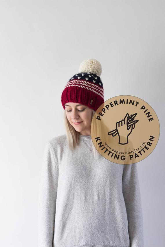Patriotic Hat  KNITTING PATTERN  Chunky Knit Women's Hat   Etsy