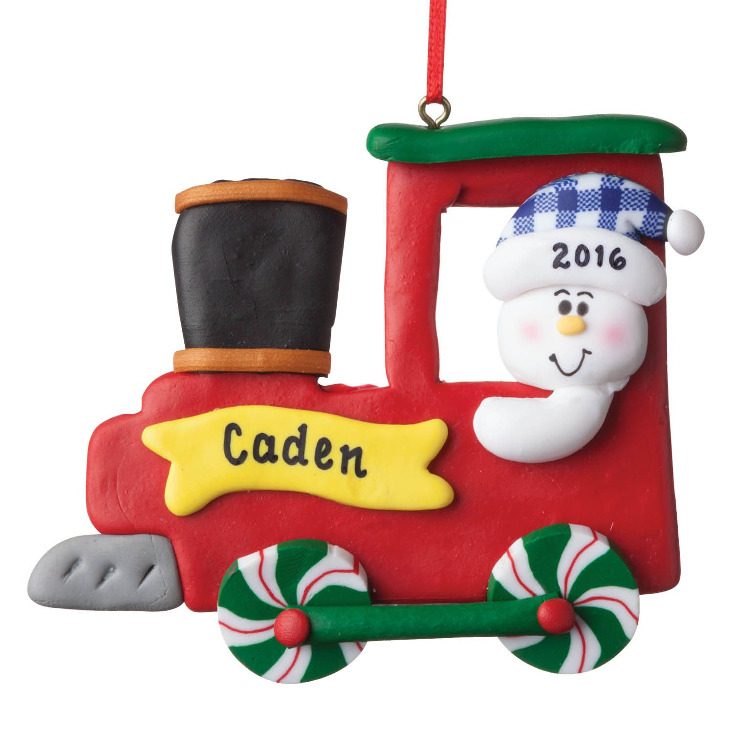 This fun personalized ornament will brighten your tree ...