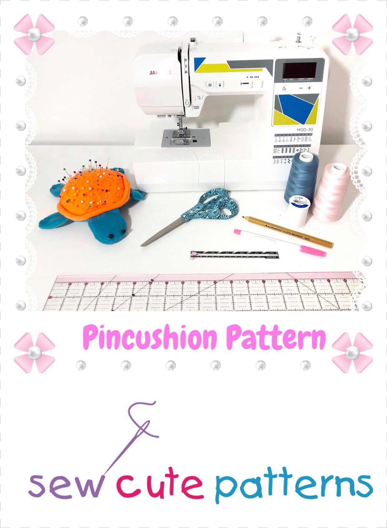 Sea Turtle Pin Cushion Sewing Pattern | Sew Cute Patterns ...