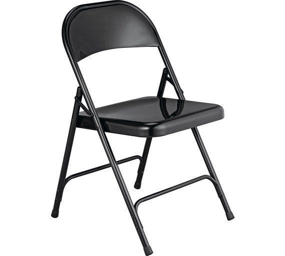 Buy Habitat Macadam Metal Folding Chair - Black at Argos.co.uk ...