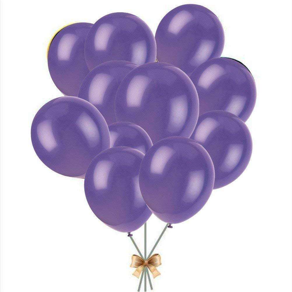 10 Zoll 100er Pack reine perlmuttdicke dickere Latexballons - Hochzeitsbögen dekorative Luftballons Party Geburtstag Absolventen Party dekorative Luftballons 2017 (lila) - lila - CX17YRLMAI6