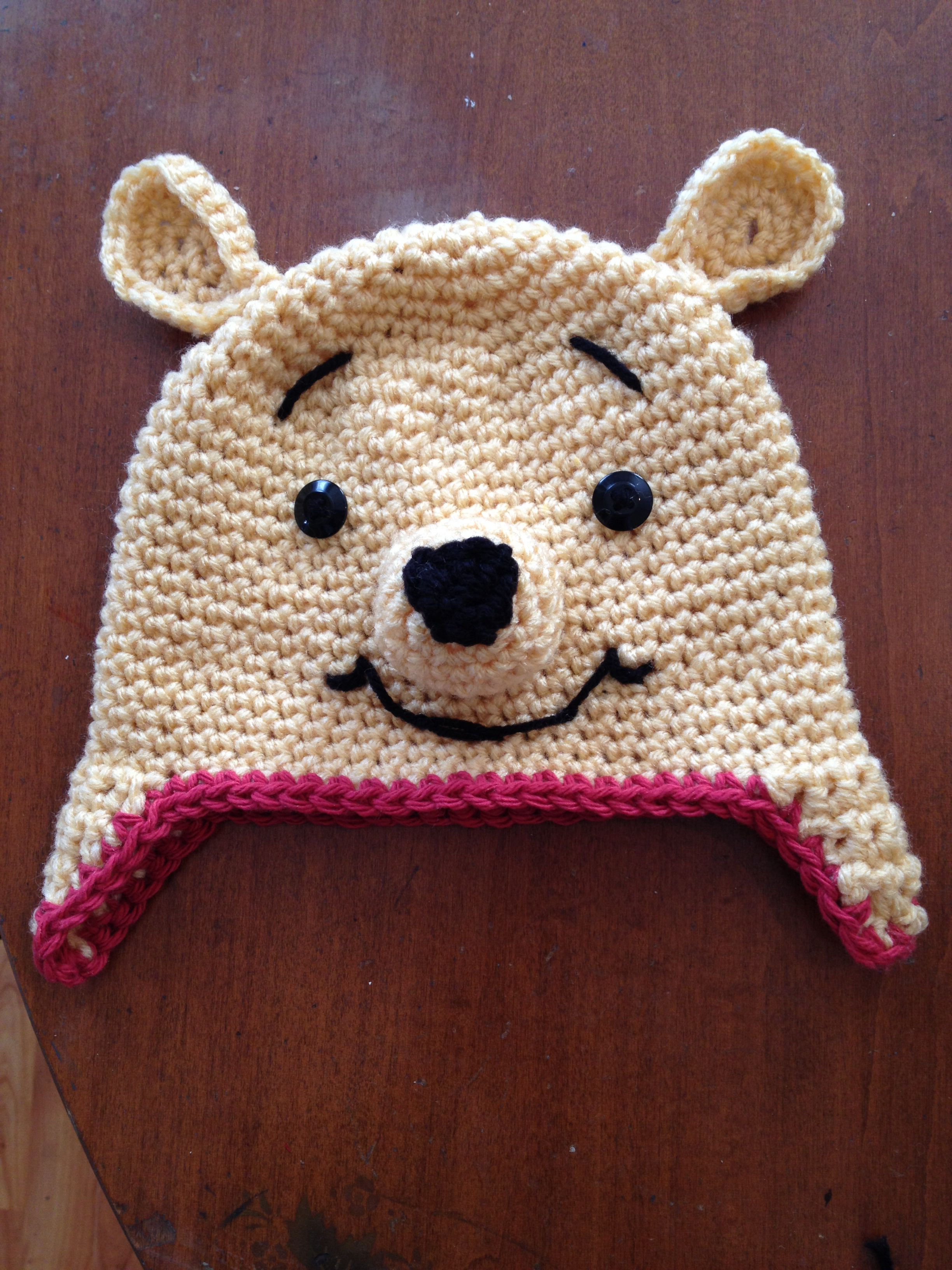 Pooh hat https://www.facebook.com/pages/Baby-BloomHandmade-Hats-Accessories/100224606716776