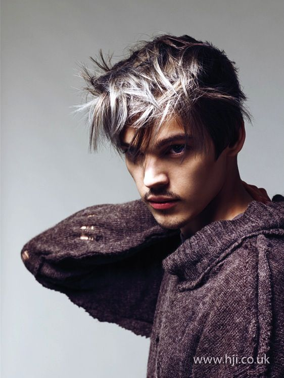 2014 Mens Frosted Grunge Tips Short Grunge Hair Mens Hairstyles Hair Photo