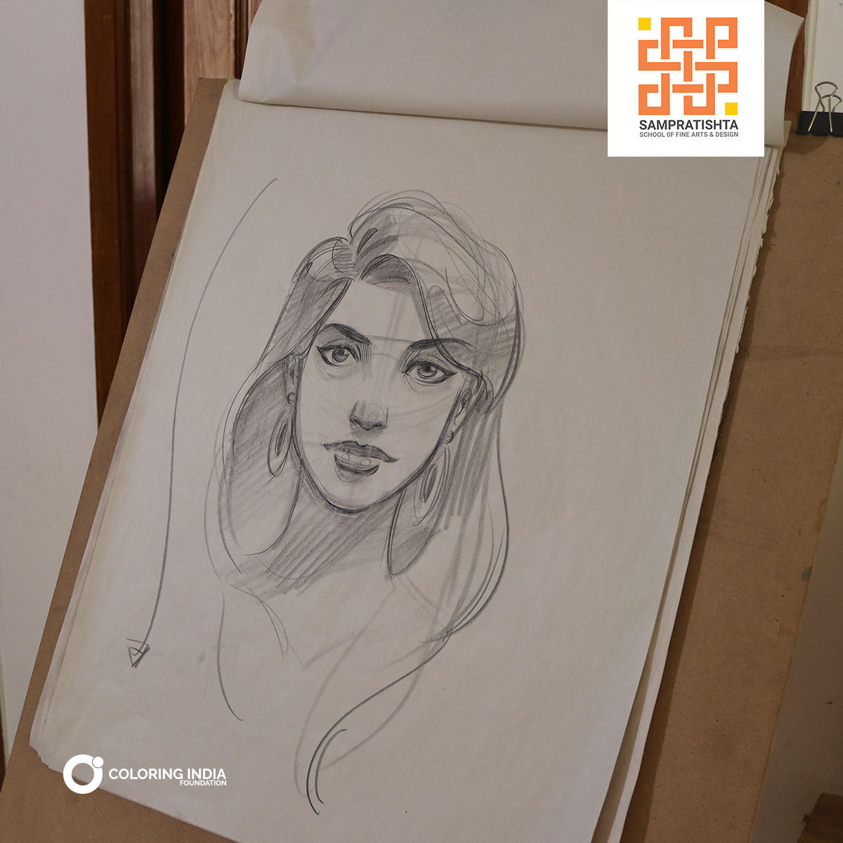 How well can you draw a female head learn all the essential principles to master portrait sketching portrait artclass diploma finearts bangalore