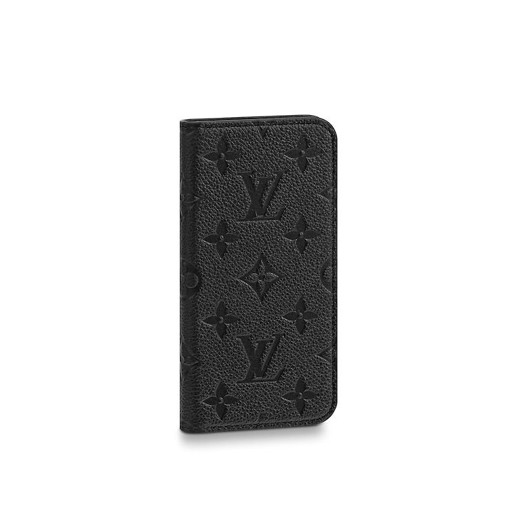 Iphone X Xs Folio Monogram Empreinte Leather Small Leather Goods Louis Vuitt Louis Vuitton Phone Case Louis Vuitton Monogram Handbags Small Leather Goods