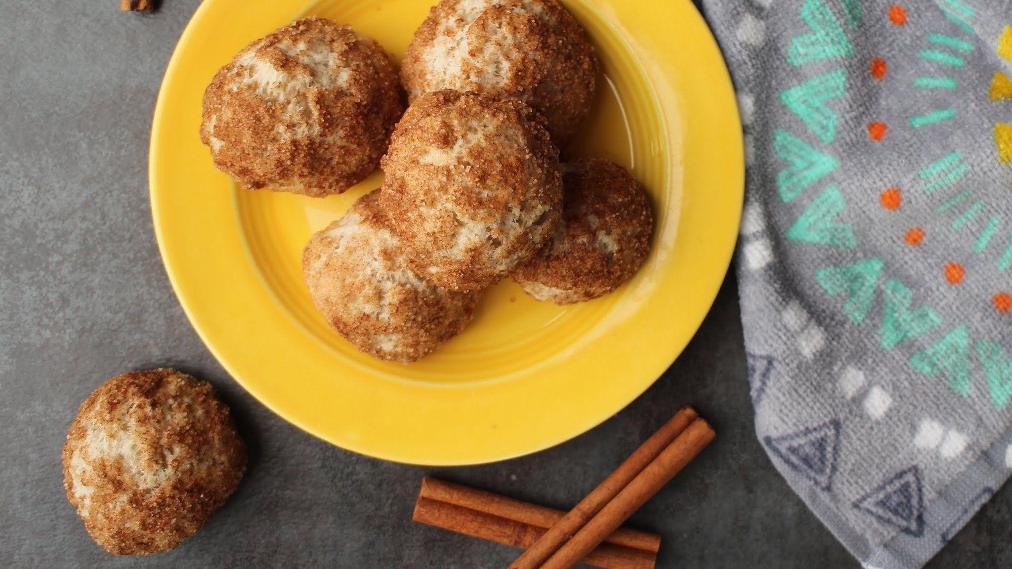 Churrostyle vegan doughnut holes made in the air fryer