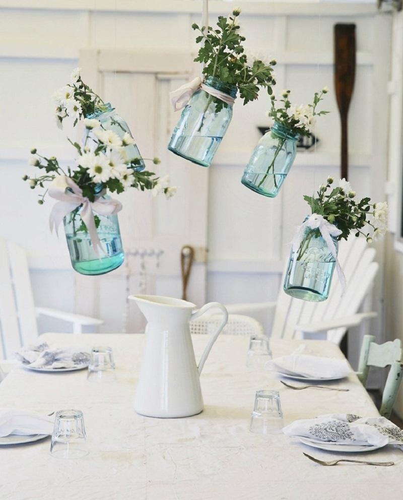 Diy floreros colgantes con tarros de cristal lola for Tarros de cristal vintage