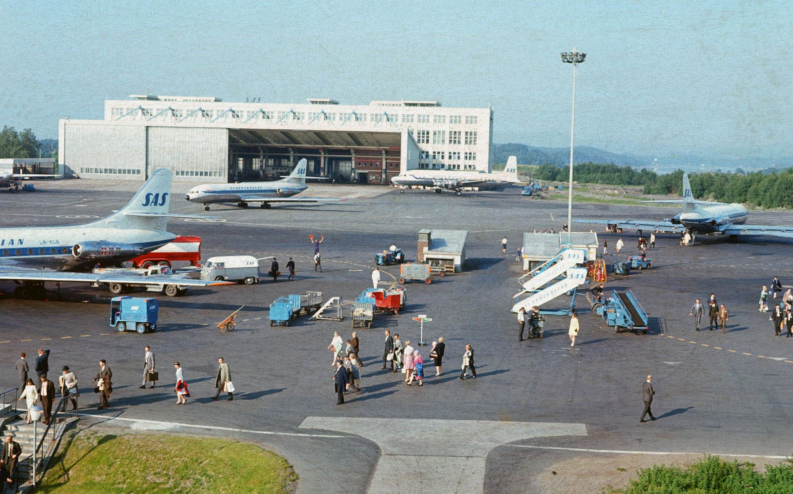 Fornebu 1967 Scandinavian Airlines System Aviation History Image