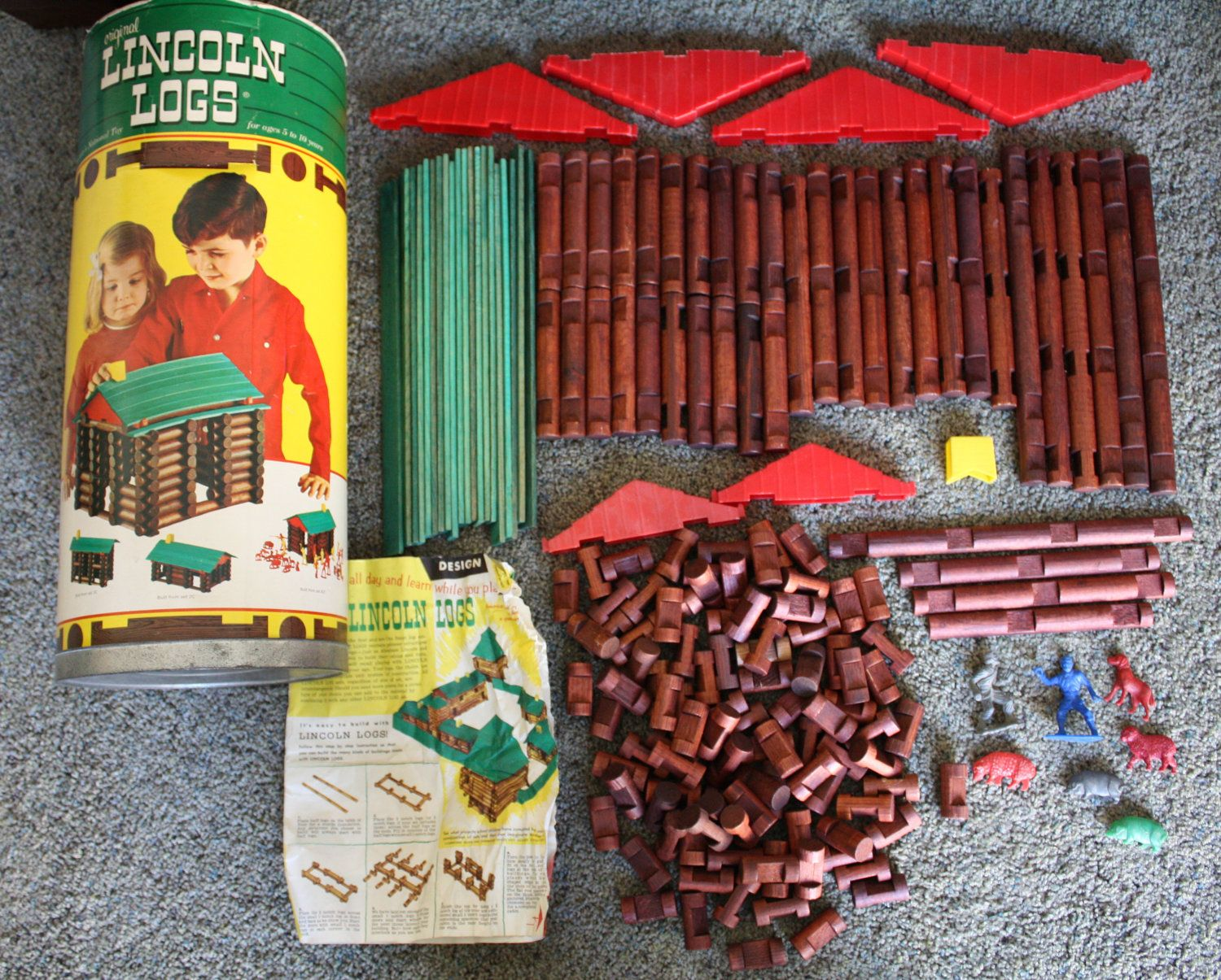 Lincoln Logs, just as remembered! Growing up in the 70s