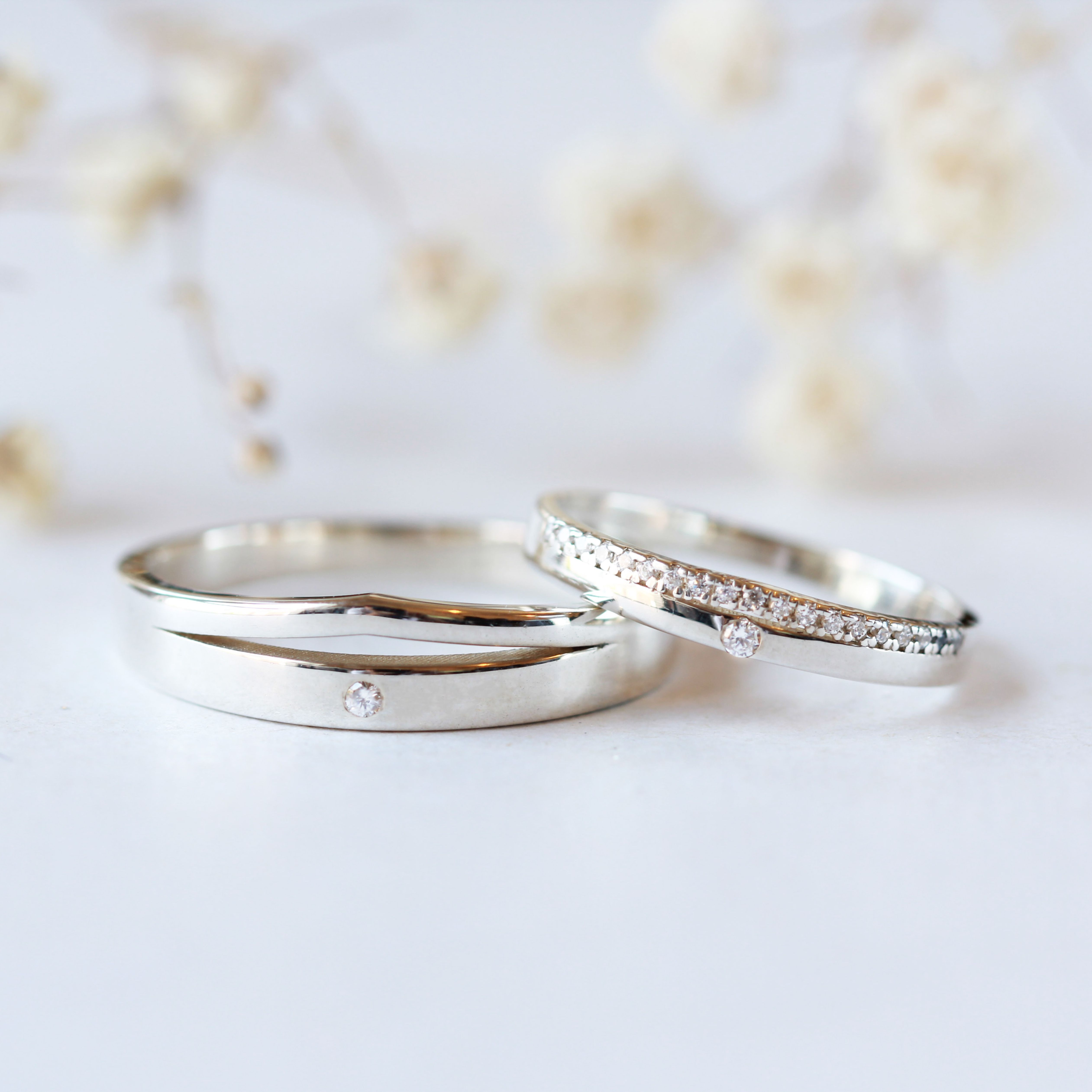 Wedding Band His And Hers Couple Rings Engagement Band Etsy In 2020 Couple Wedding Rings Matching Wedding Rings Couple Ring Design
