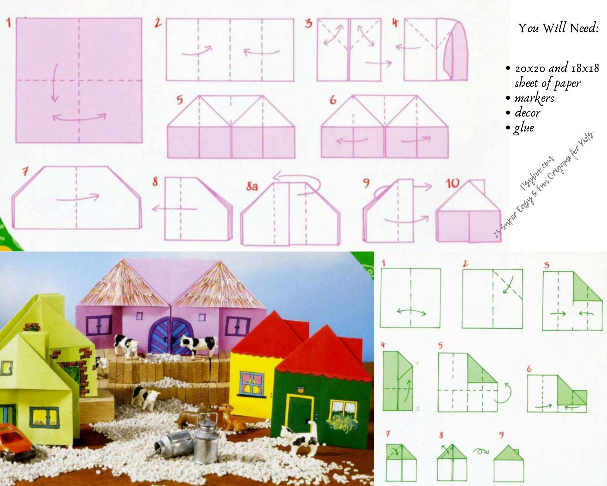 Origami Village Of Dreams In