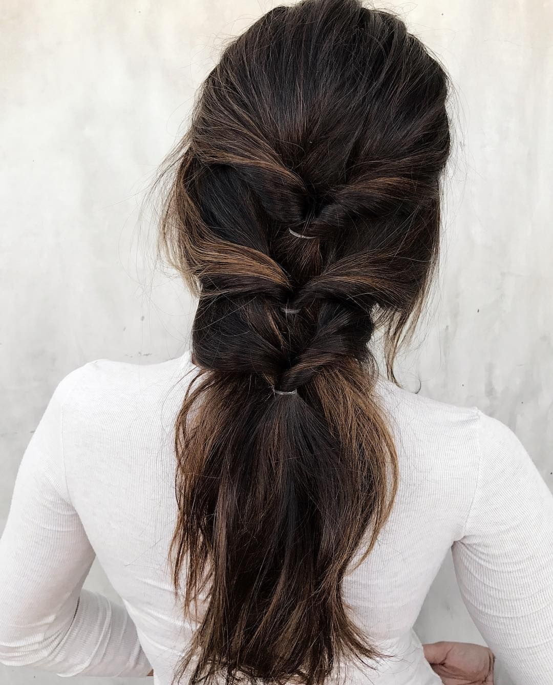 Feminine loose halfup braided hairstyle minimalist hair u makeup