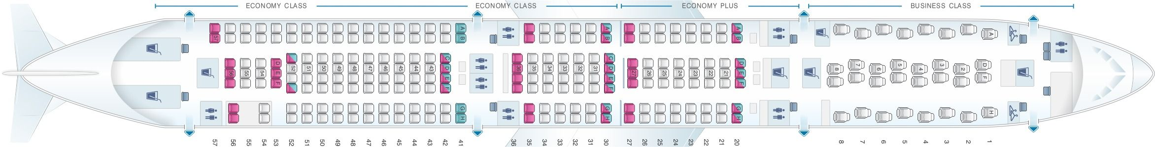 Seat Map And Seating Chart Airbus A330 300 Scandinavian Airlines Sas Asiana Airlines Malaysia Airlines Airlines