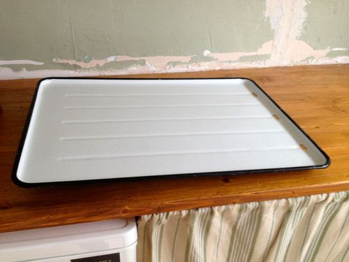 Vintage enamel draining board for Belfast or butler sink - \'retro ...