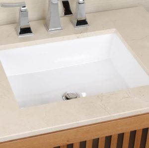 Round Undermount Bathroom Sink With Faucet Holes