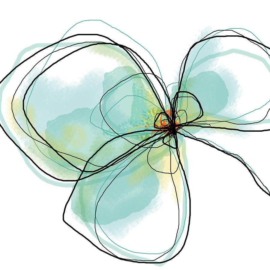 Three Teal Petals Digital Art  - Three Teal Petals Fine Art Print Jan Weiss