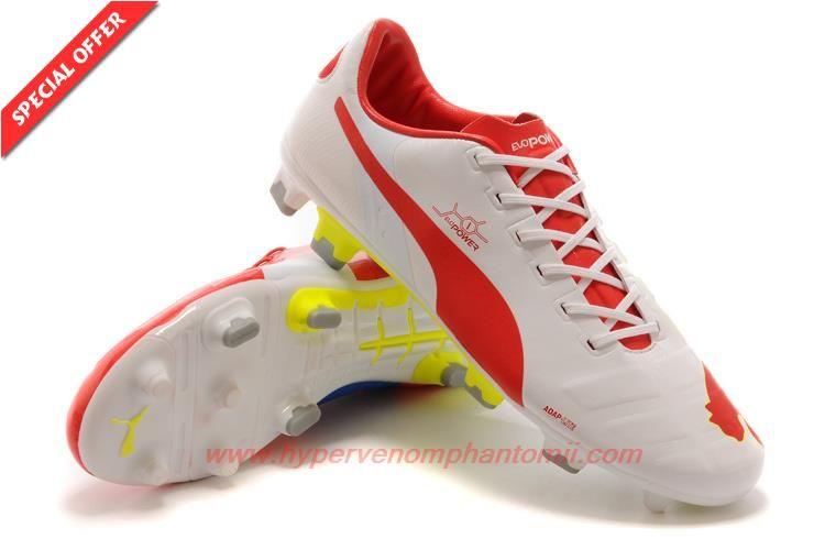 Puma evoSPEED 1.2 K FG White/Red/Blue Kangaroo skin Shop For Shoes