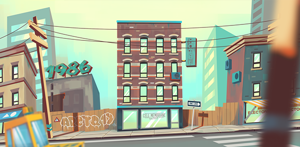 Amoeville backgrounds on Behance Scenery background