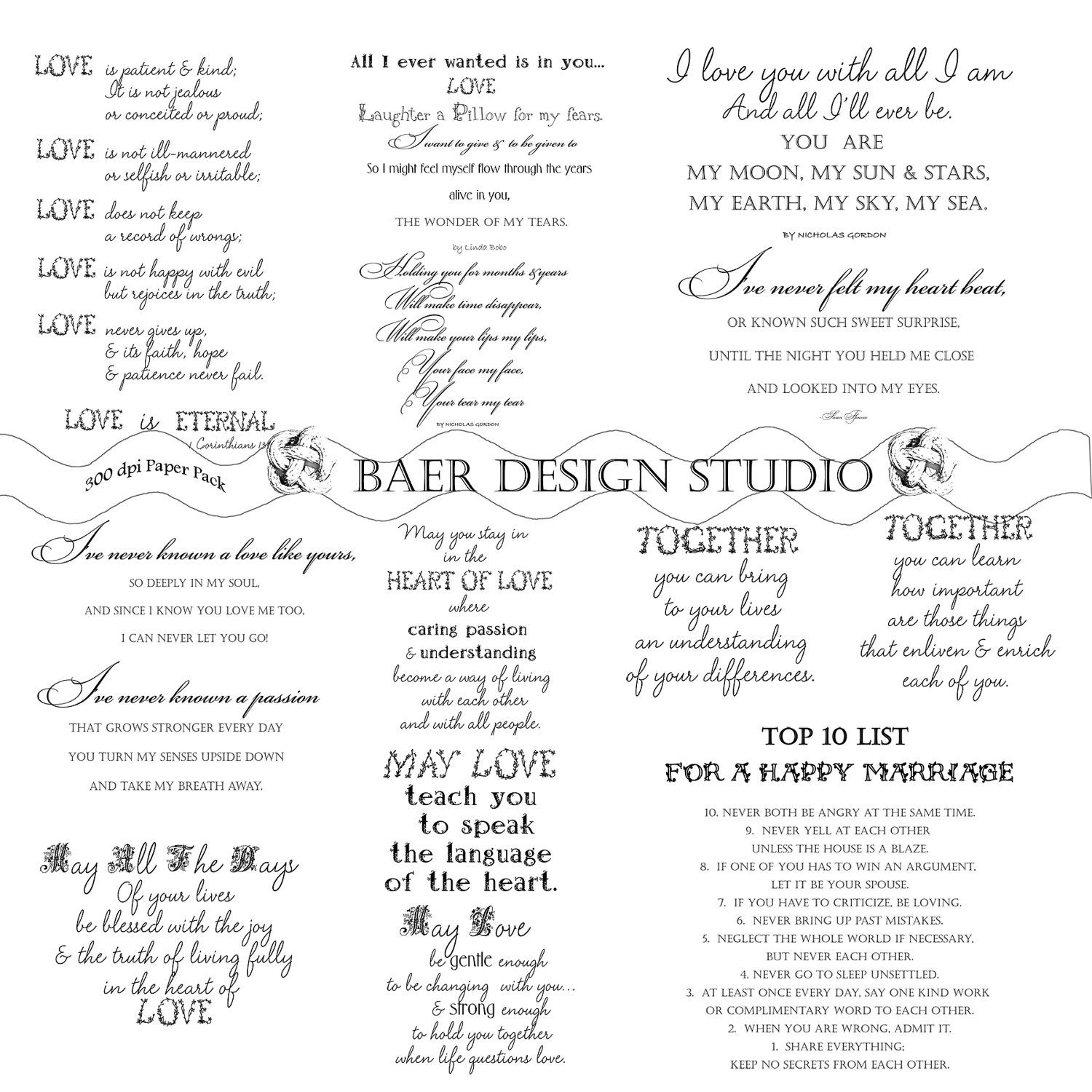 Scrapbook ideas and quotes - Love Quotes Love Word Art Digital Word Art For Weddings Printable Wedding Poetry Poetry For Bridal Showers Relationship Quotes 16100
