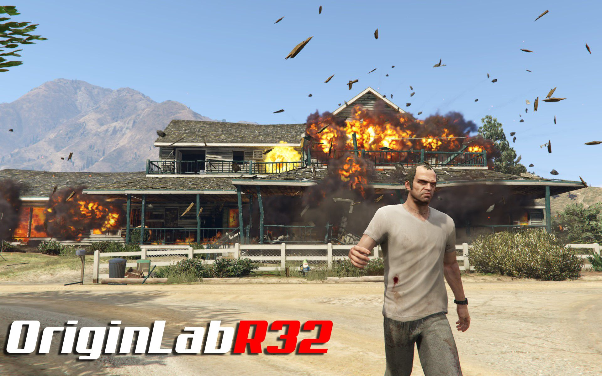 Grand Theft Auto 5 campaign mods! Trevor visits O'Neils farm