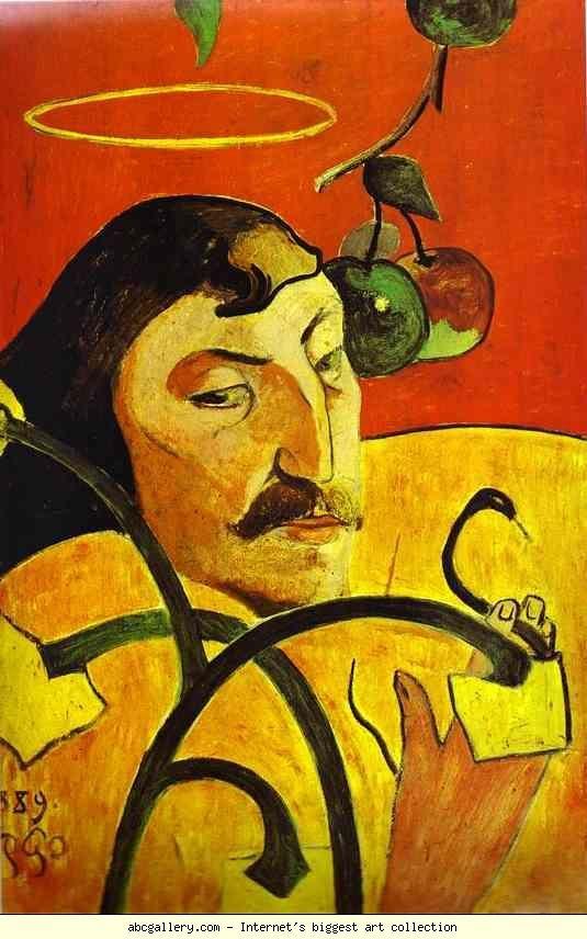 Paul Gauguin Caricature Self Portrait 1889 Oil On Wood The