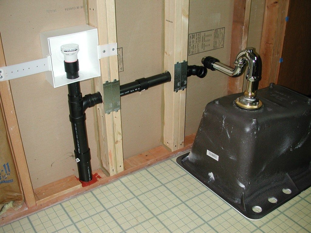 Add sink pipes and drain to laundry room lines google