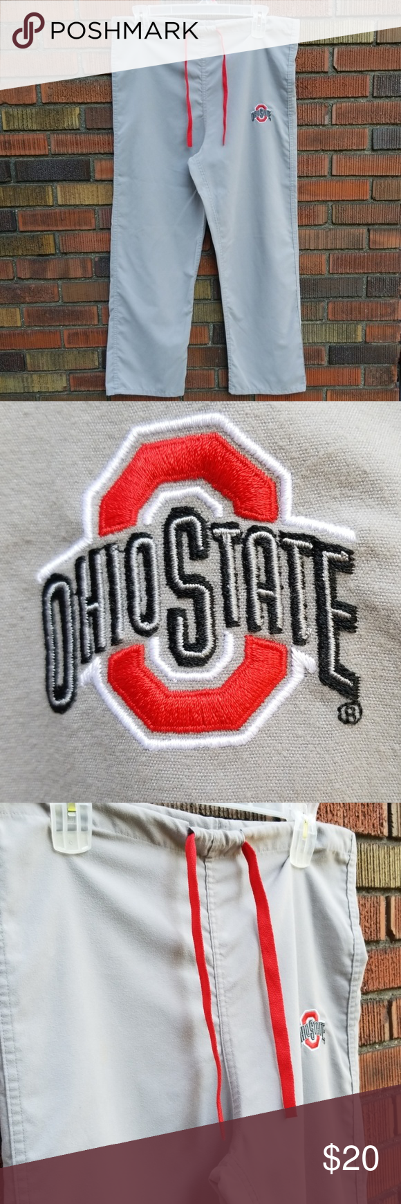 Ohio state buckeyes Nice pre owned condition  Scrub pants gel scrubs Pants #ohiostatebuckeyes Ohio state buckeyes Nice pre owned condition  Scrub pants gel scrubs Pants #18inchcheerleaderclothes