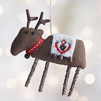 Scandinavian Reindeer Ornament 1 98 Fabric Christmas Ornaments Handmade Christmas Handmade Christmas Ornaments