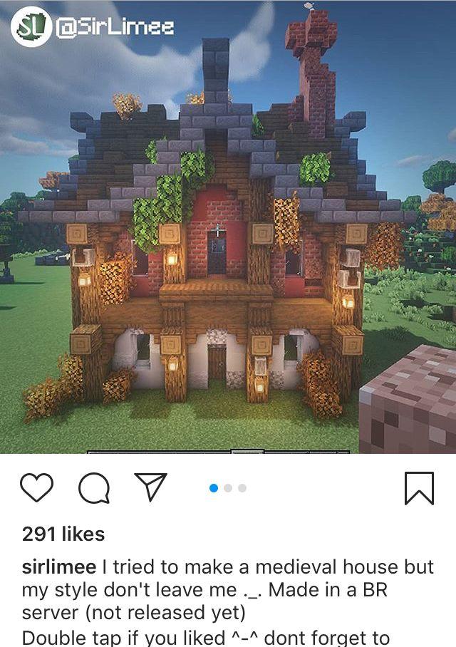 Medieval House in 2020 | Minecraft blueprints, Minecraft ...