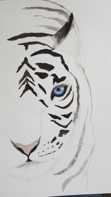 Watercolor tiger for sale. Contact at soniashorizons@gmail.com