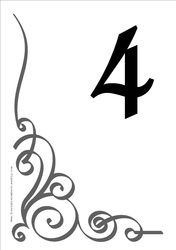 Free Table Numbers   Free DIY Printable Wedding Reception Table Numbers  Templates  Numbers Templates Free