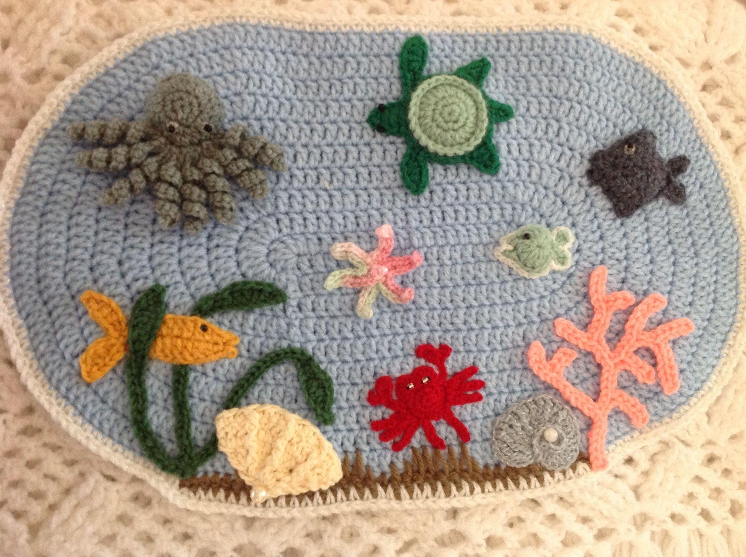 Second Twiddle Mat Completed Fidget Quilt Fidget Blankets Crochet Applique