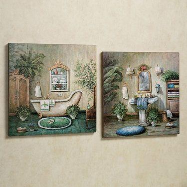 Blissful Bath Wooden Wall Art Plaque Set Wall Painting Decor Wall Art Plaques Wooden Wall Art