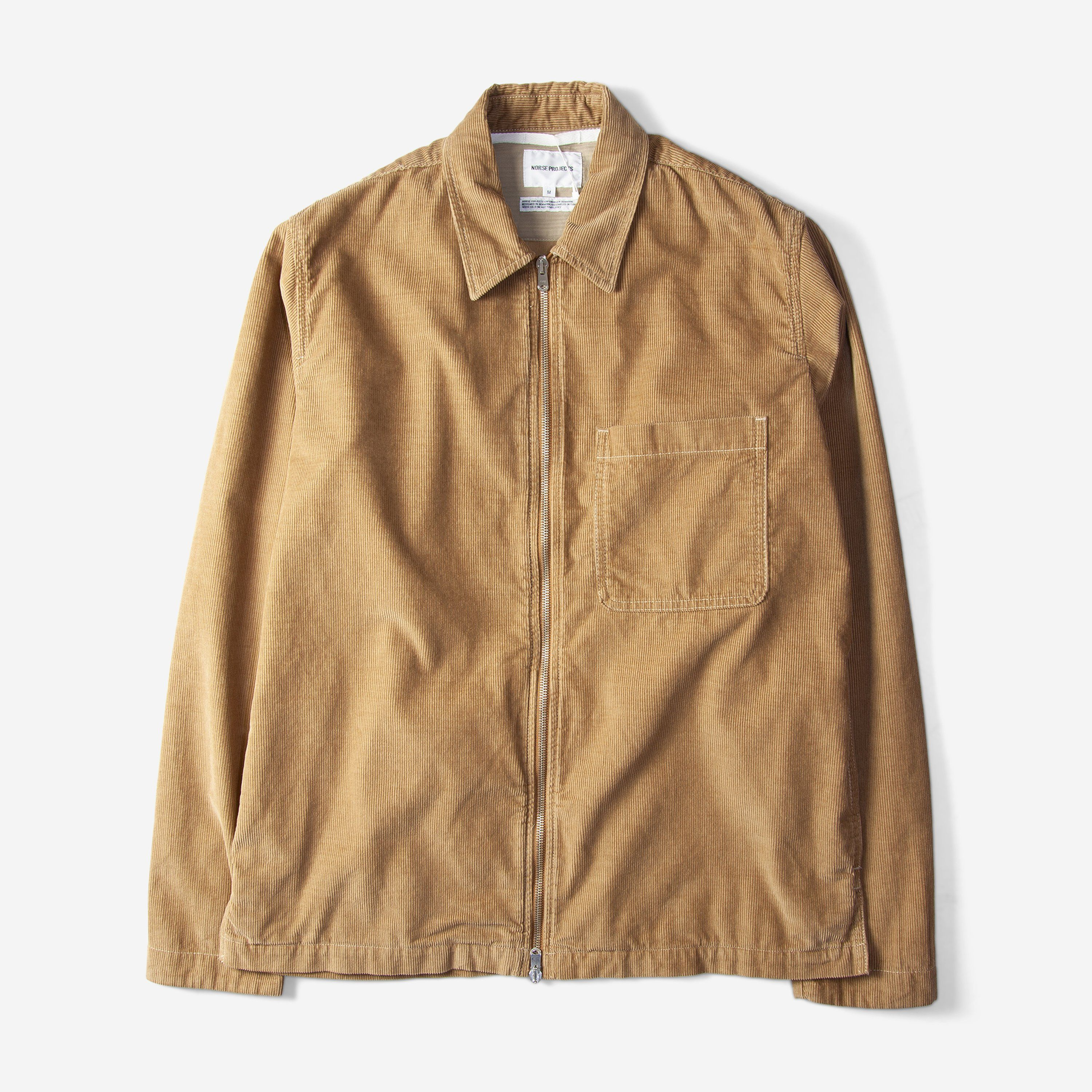 2e5859a88 Norse Projects Jens Cord Zip Shirt Camel Free SHIPPING OVER £50.00  1856   grants