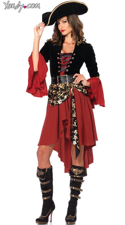 Crimson Pirate Costume $69.95 #besexy #yandydotcom  sc 1 st  Pinterest & Crimson Pirate Costume $69.95 #besexy #yandydotcom | Halloween ...