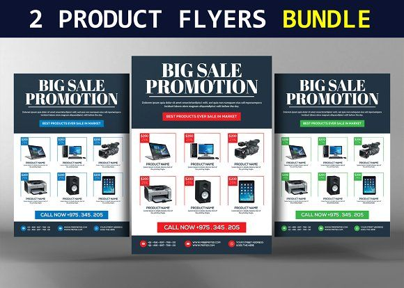 2 product promotion flyers bundle creativework247