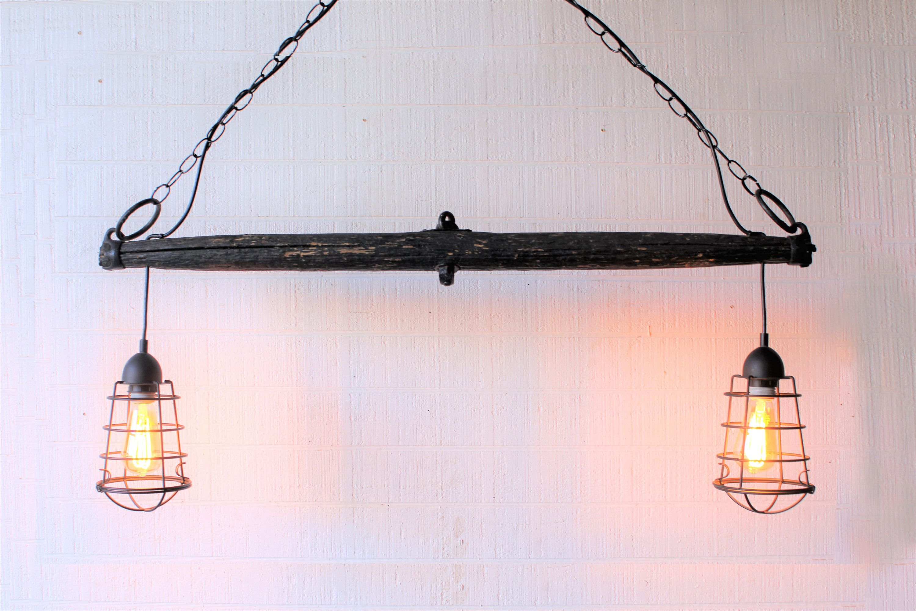 Rustic Ceiling light, industrial kitchen light made from a