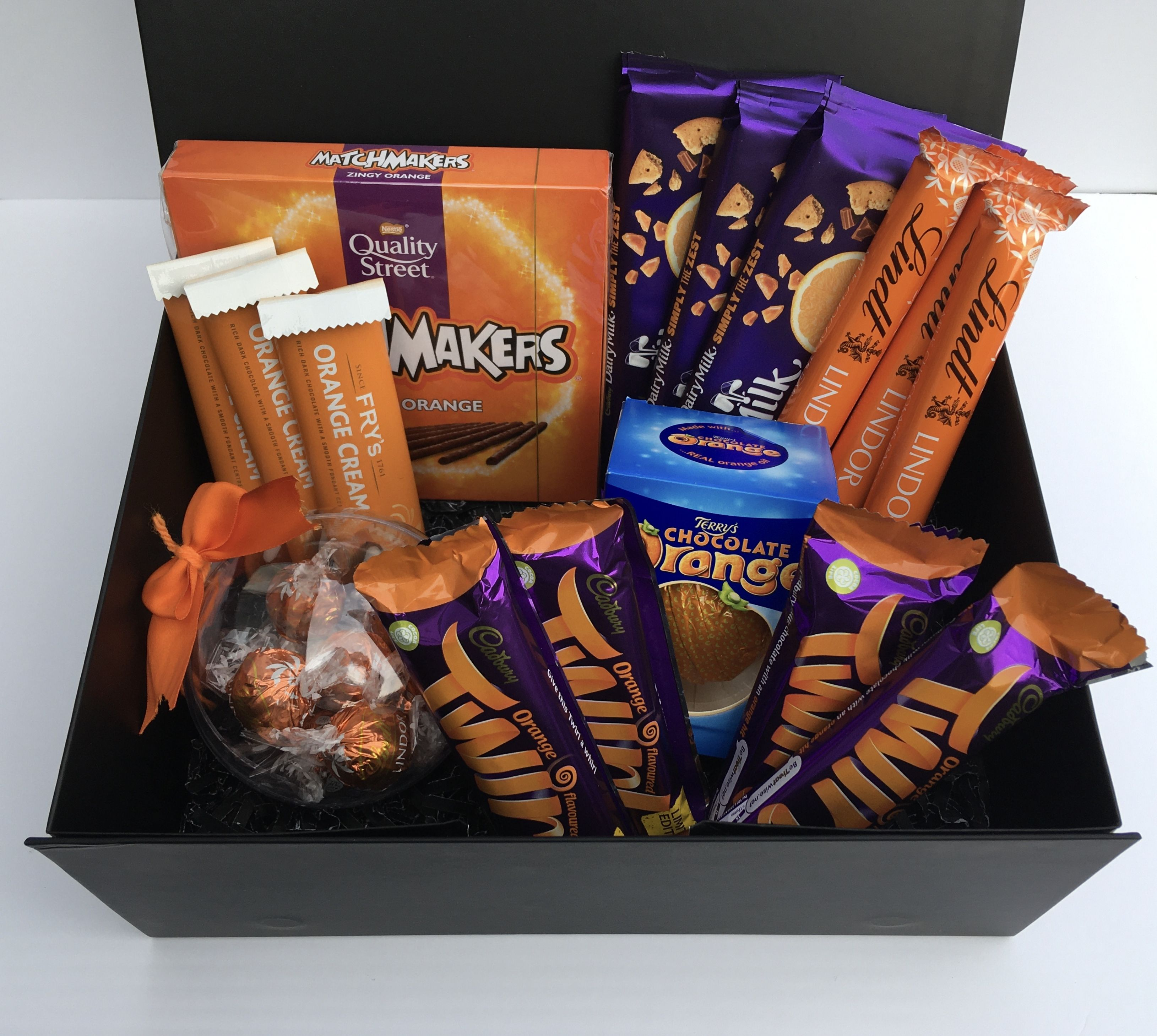 Chocolate hamper with a selection of the best orange