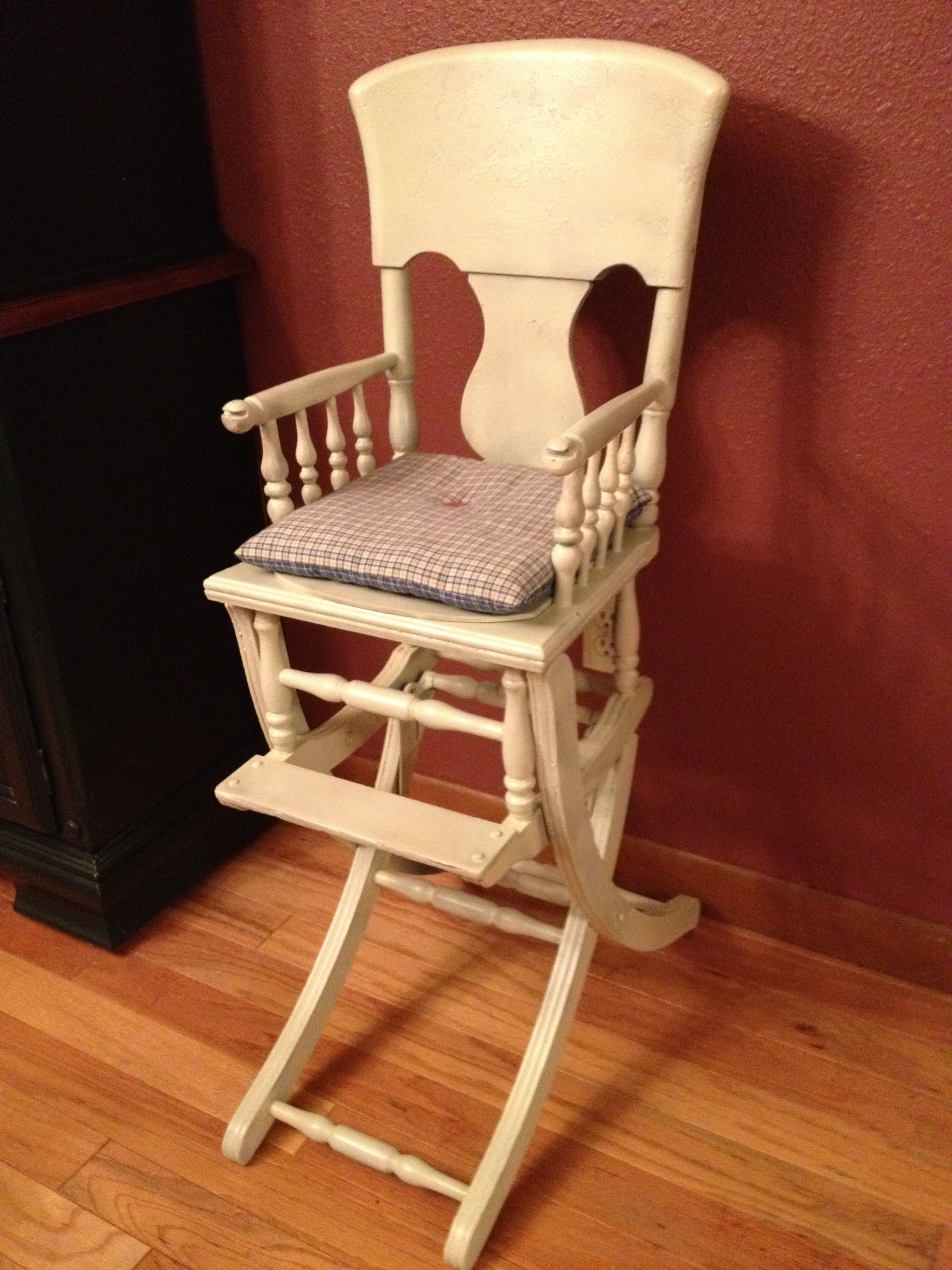 Antique high chair converts to rocking chair - Antique High Chair That Converts To Rocker