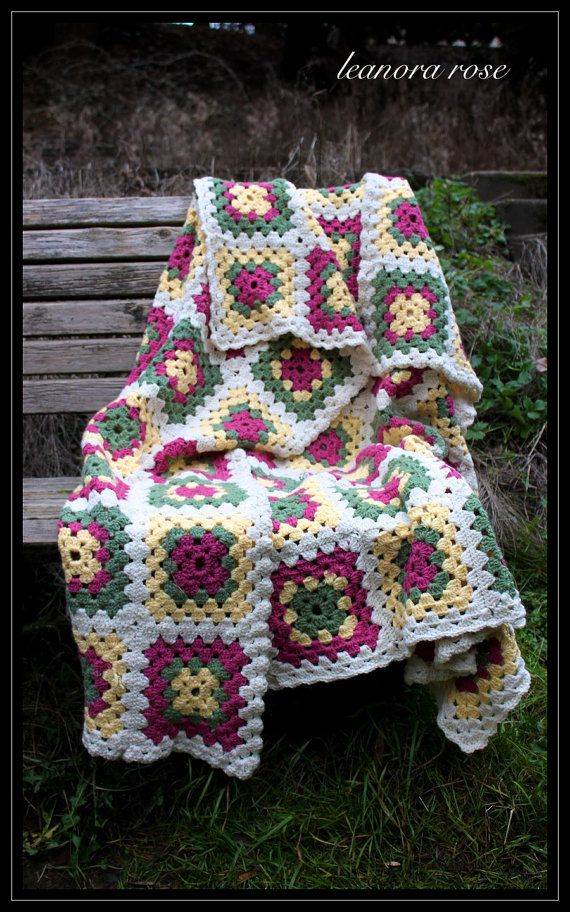 Granny Blanket... Great colors Choose 3 colors plus one joining ...