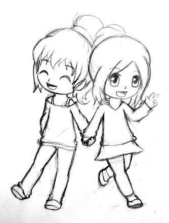 Cute Friend Drawings : friend, drawings, Resultado, Imagem, Drawings, Friendship, Friends,, Friend, Drawings,, Friends, Sketch