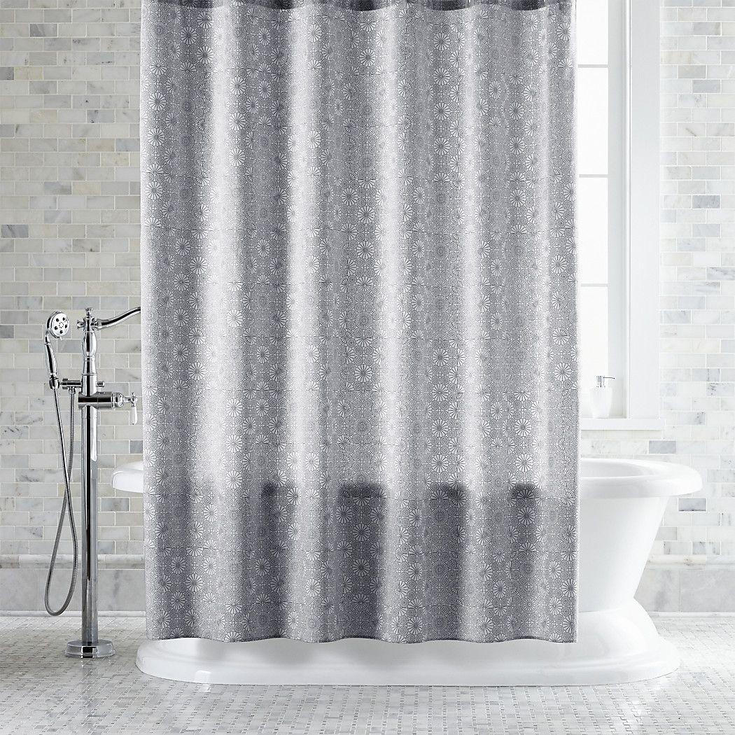 Marimekko Kioto Light Grey Shower Curtain Gray Shower Curtains