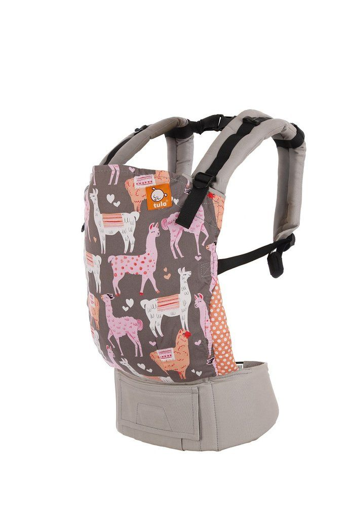 32882e167f3 Alpaca Love - Tula Baby Carrier. Alpaca Love is a quirky and sweet Tula  pattern of Llamas and Alpacas in love with a polka dot leg padding on a  light gray ...