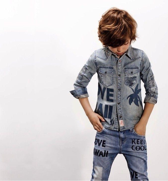 cb89cae53 Blauwe jongens outfot Ikks | denim kids | Kids shirts, Kids outfits ...
