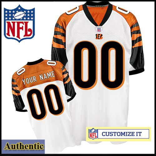 f2c7be6731e Cincinnati Bengals RBK Style Authentic White Jersey (Pick A Player) - Custom  Made Sports Jersey