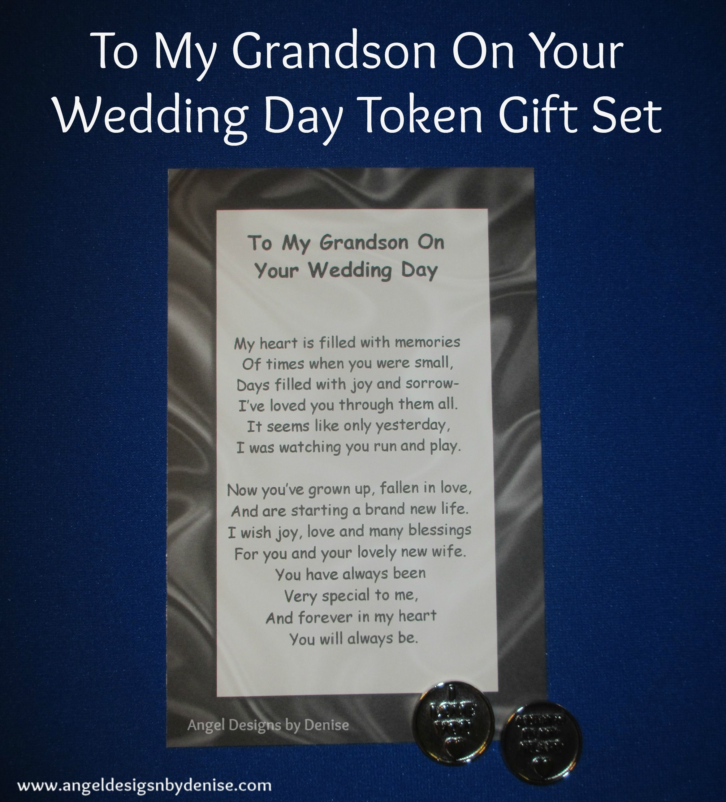 Wedding Day Poems For Bride: Give This Grandson Token Gift Set To Your Grandson On His