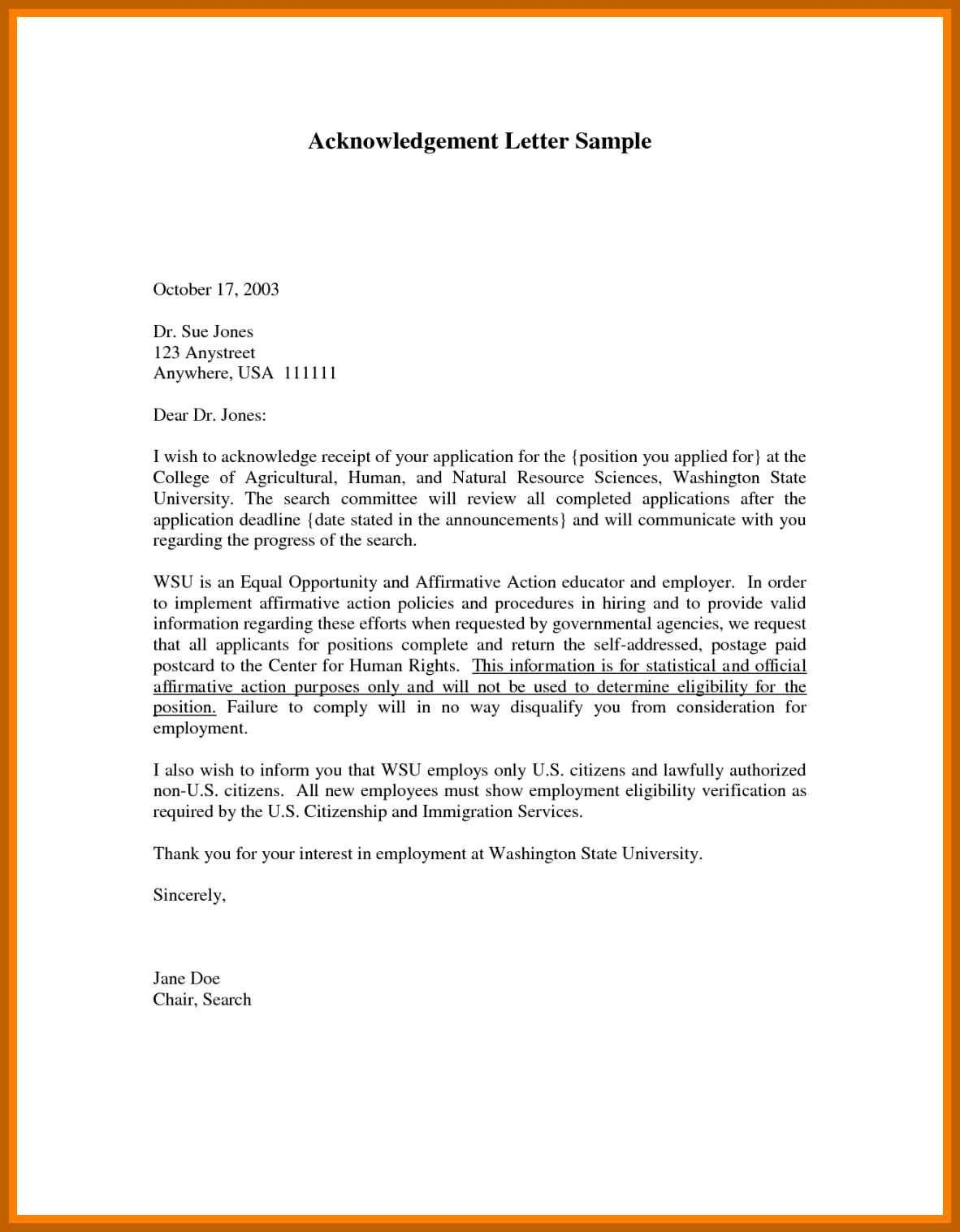 Letter Of for Immigration Purposes