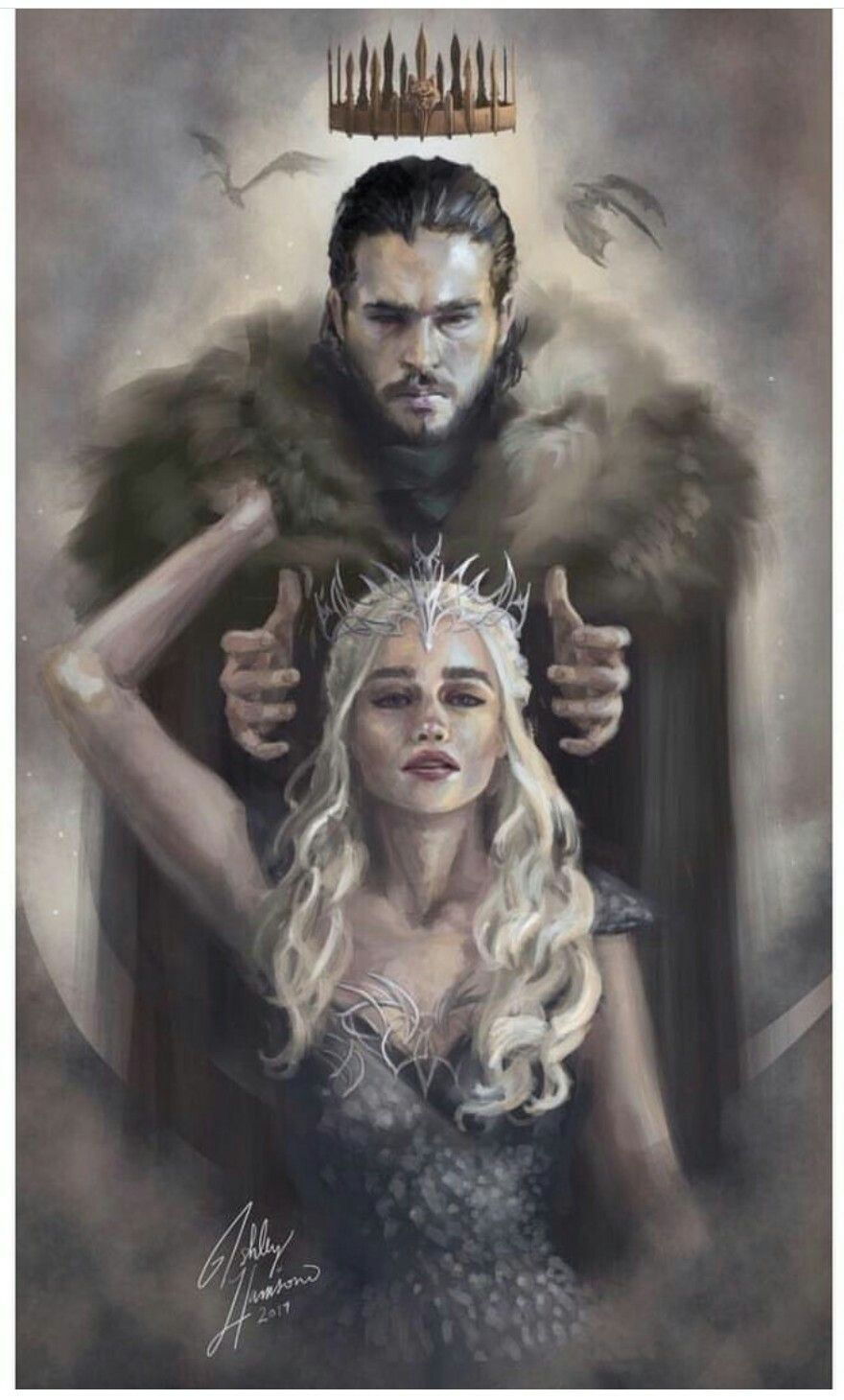 Pin By Cesar Gallardo On Ilustracion De Fantasia In 2020 Jon Snow And Daenerys Game Of Thrones Drawings Game Of Thrones Fans