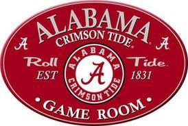 Alabama Game Room Sign