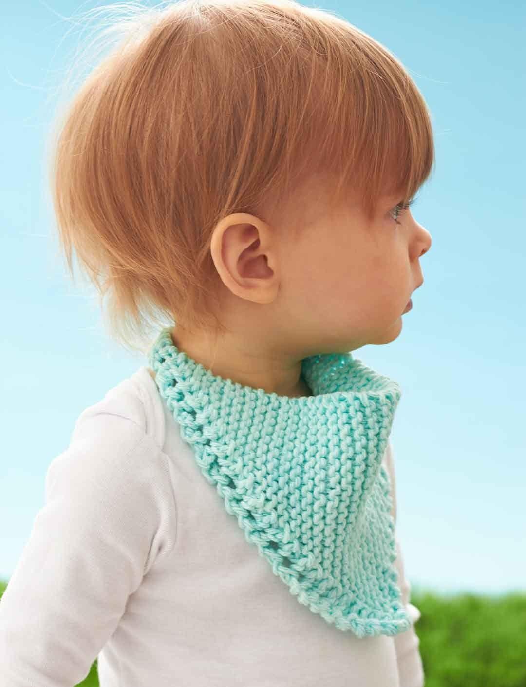 Yarnspirations.com - Lily Dribble Bib - Free Pattern - knit - easy ...
